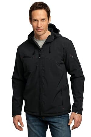 J706 port authority textured hooded soft shell jacket