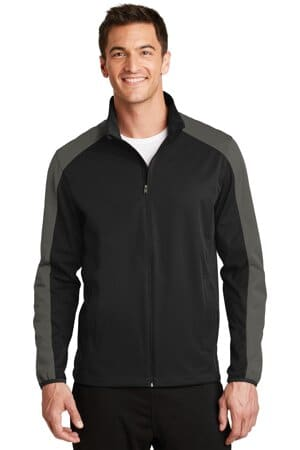port authority active colorblock soft shell jacket j718
