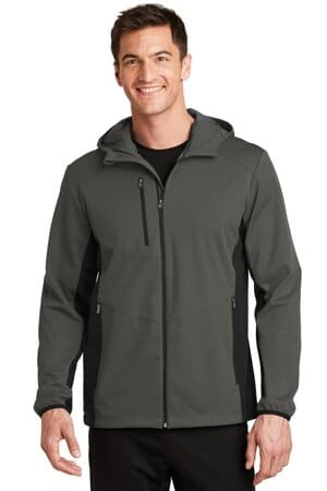port authority active hooded soft shell jacket j719