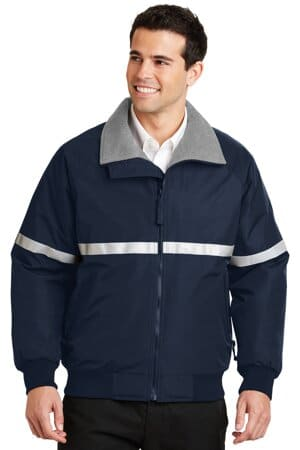 port authority challenger jacket with reflective taping j754r