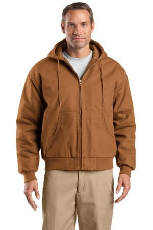 cornerstone tall duck cloth hooded work jacket tlj763h