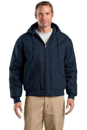 TLJ763H cornerstone tall duck cloth hooded work jacket