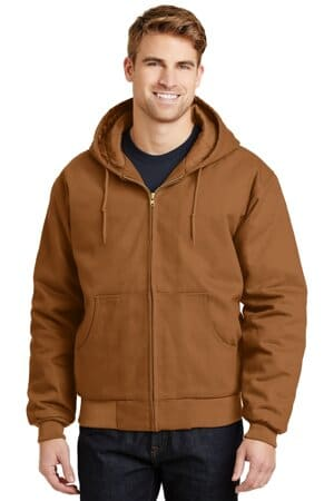 cornerstone-duck cloth hooded work jacket j763h