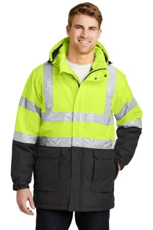 port authority ansi 107 class 3 safety heavyweight parka j799s