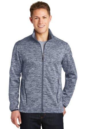 sport-tek posicharge electric heather soft shell jacket jst30