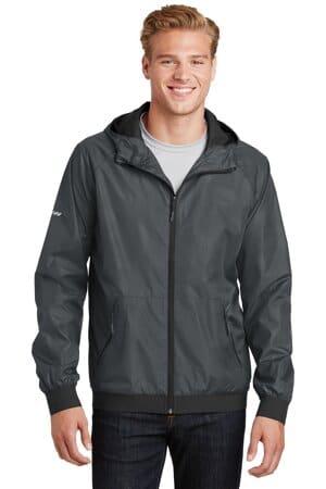 JST53 sport-tek embossed hooded wind jacket
