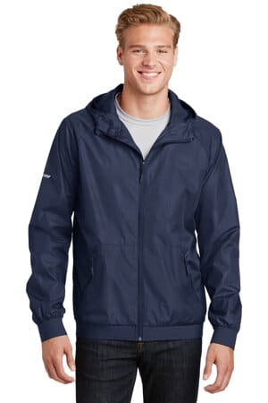 JST53 sport-tek embossed hooded wind jacket jst53