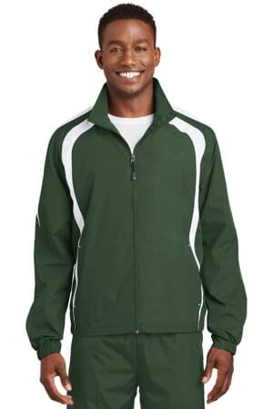 JST60 sport-tek colorblock raglan jacket jst60