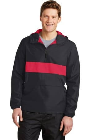 JST65 sport-tek zipped pocket anorak jst65
