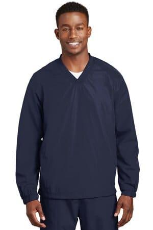 JST72 sport-tek v-neck raglan wind shirt jst72
