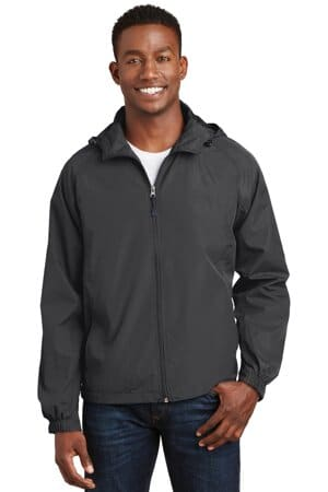 JST73 sport-tek hooded raglan jacket jst73