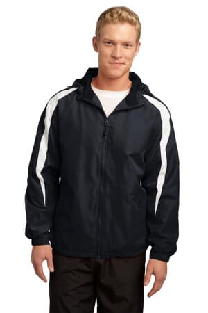 JST81 sport-tek fleece-lined colorblock jacket jst81