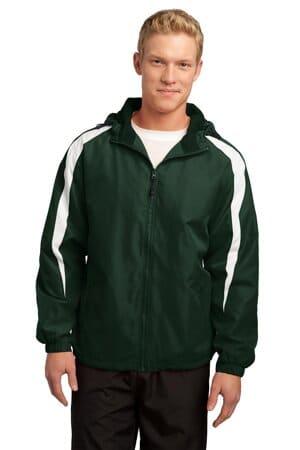 JST81 sport-tek fleece-lined colorblock jacket jst81
