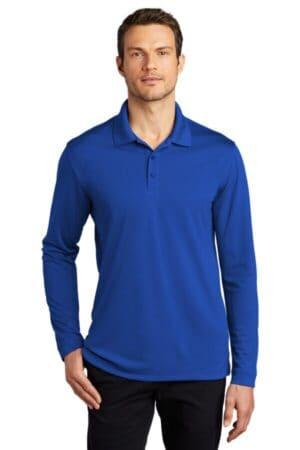 port authority dry zone uv micro-mesh long sleeve polo k110ls