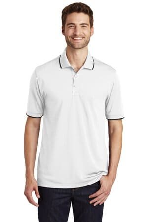 port authority dry zone uv micro-mesh tipped polo k111