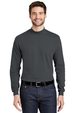 port authority interlock knit mock turtleneck k321