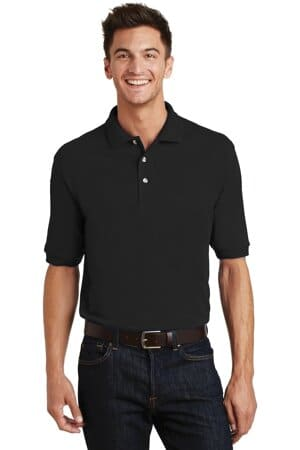 K420P port authority heavyweight cotton pique polo with pocket