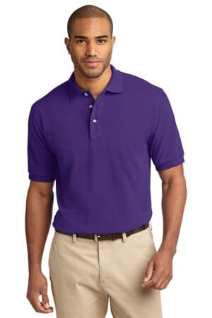 port authority heavyweight cotton pique polo k420