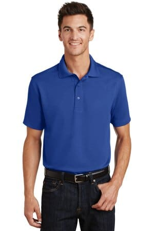 port authority poly-charcoal blend pique polo k497
