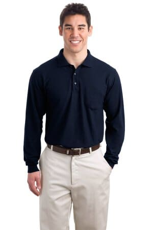 port authority long sleeve silk touch polo with pocket k500lsp