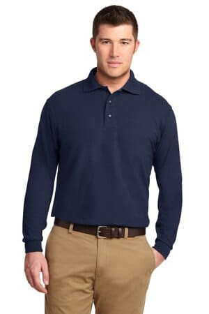 port authority silk touch long sleeve polo k500ls