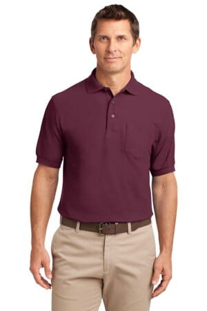 K500P port authority silk touch polo with pocket k500p