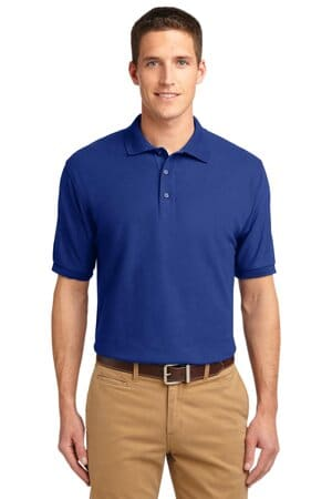 port authority extended size silk touch polo k500es