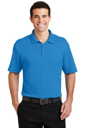port authority silk touch interlock performance polo k5200