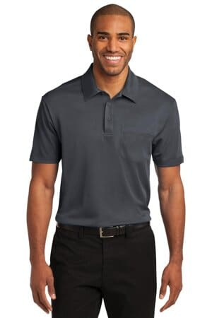 port authority silk touch performance pocket polo k540p