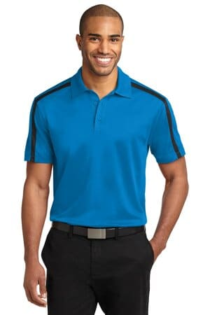 port authority silk touch performance colorblock stripe polo k547