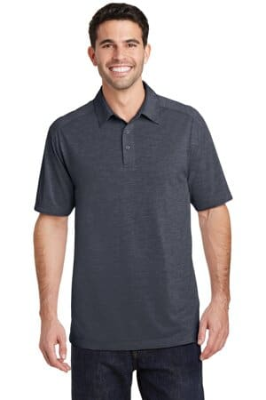 port authority digi heather performance polo k574