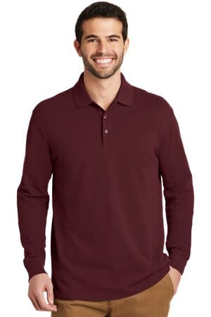 K8000LS port authority ezcotton long sleeve polo k8000ls