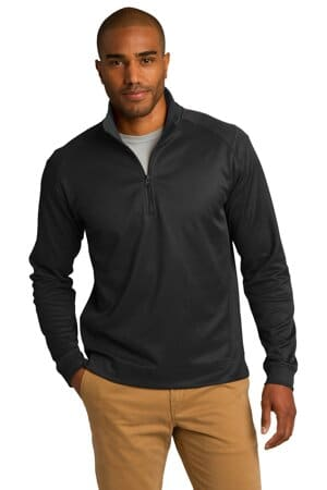 port authority vertical texture 1/4-zip pullover k805