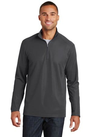K806 port authority pinpoint mesh 1/2-zip k806