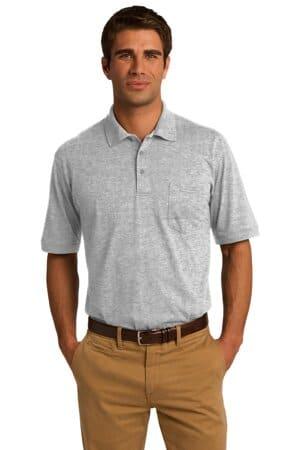KP55P port & company core blend jersey knit pocket polo