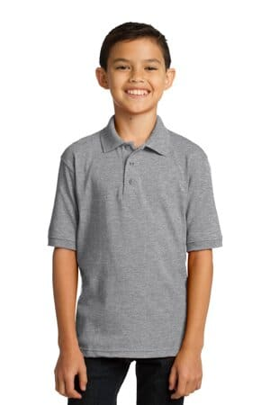 port & company youth core blend jersey knit polo kp55y