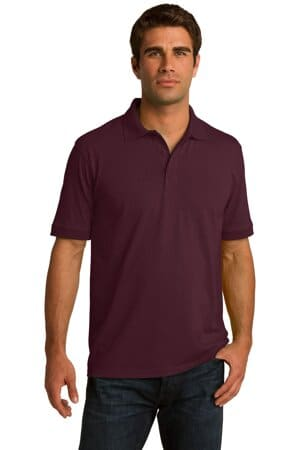 KP55 port & company core blend jersey knit polo kp55