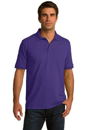 port & company tall core blend jersey knit polo kp55t