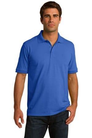 KP55 port & company core blend jersey knit polo