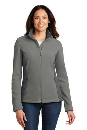 port authority ladies colorblock value fleece jacket l216