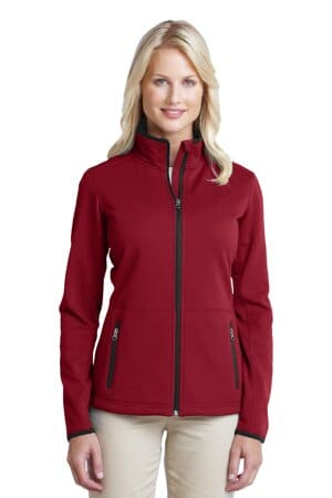 L222 port authority ladies pique fleece jacket l222