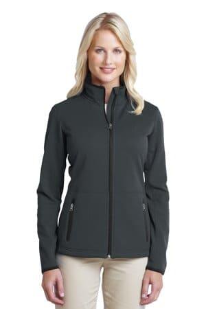L222 port authority ladies pique fleece jacket l222