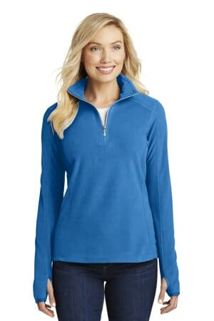 L224 port authority ladies microfleece 1/2-zip pullover