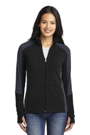 L230 port authority ladies colorblock microfleece jacket