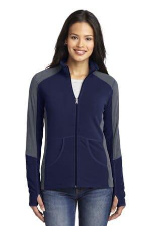 port authority ladies colorblock microfleece jacket l230