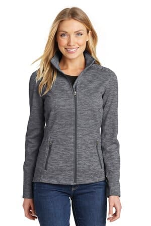 port authority ladies digi stripe fleece jacket l231