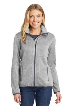 L232 port authority ladies sweater fleece jacket