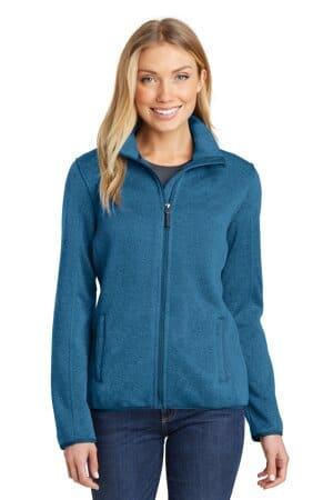 L232 port authority ladies sweater fleece jacket l232