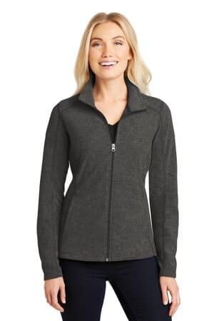 port authority ladies heather microfleece full-zip jacket l235
