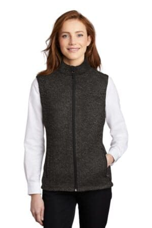 L236 port authority ladies sweater fleece vest l236